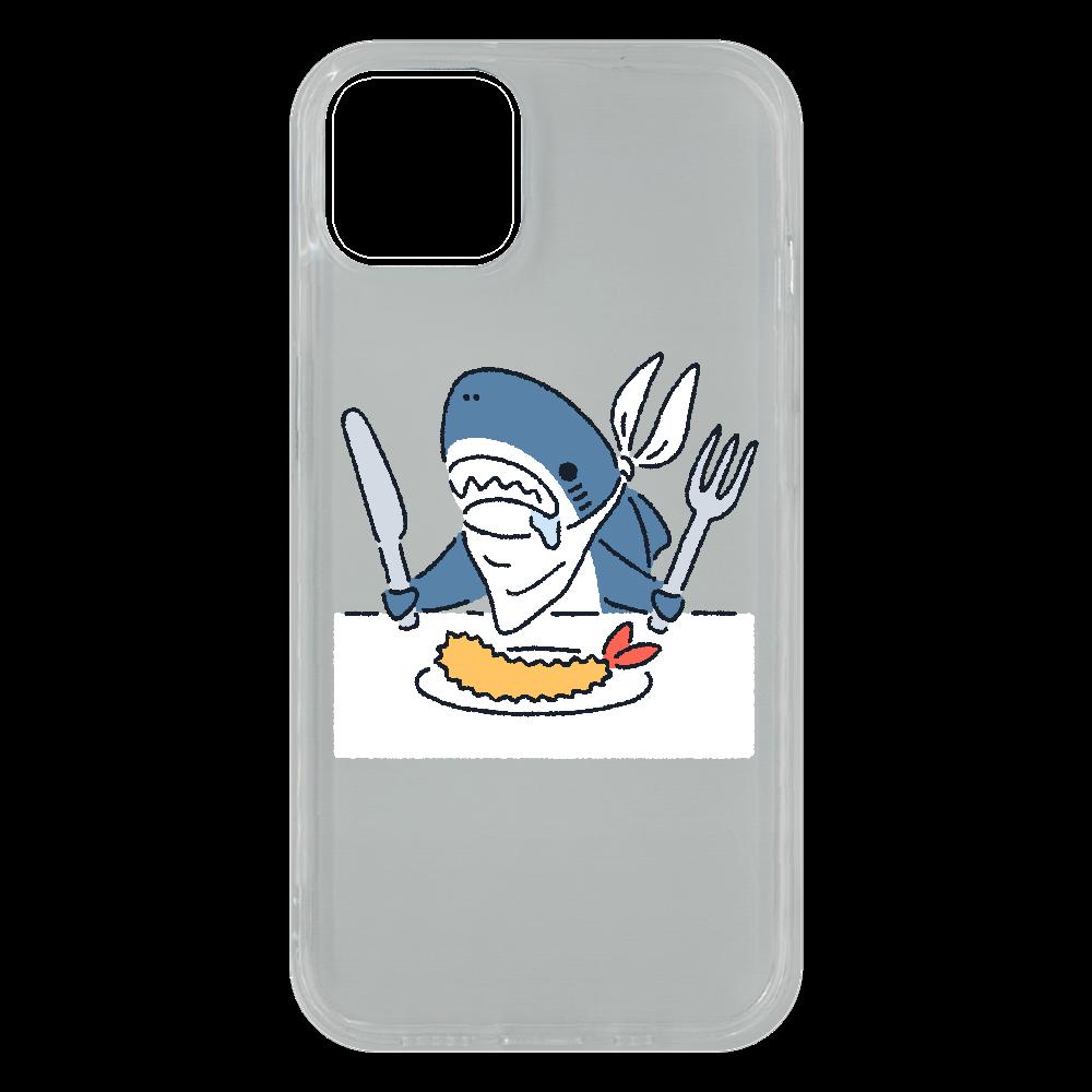 エビフライを食べようとするサメ2021 iPhone13 ソフトケース (TPU)