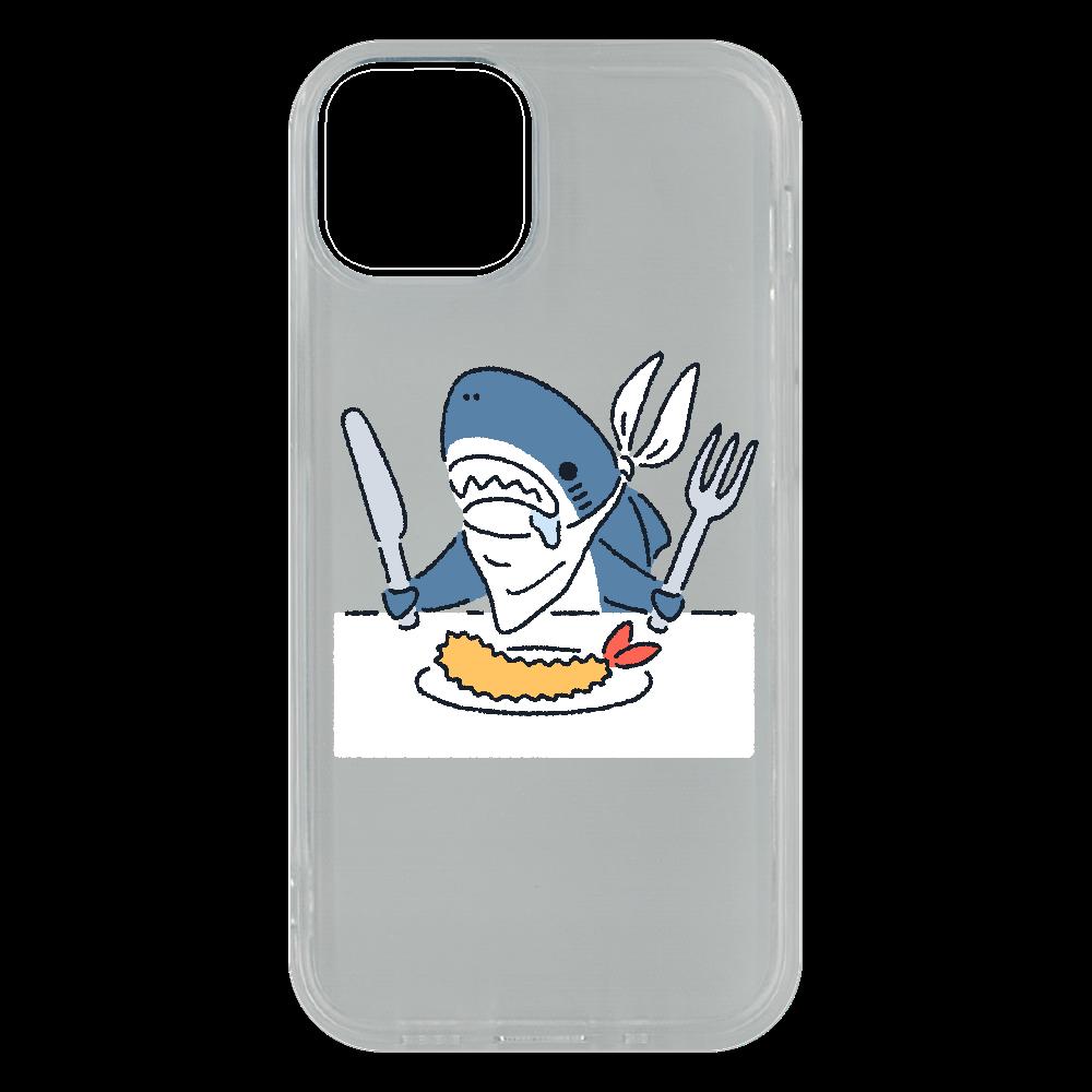 エビフライを食べようとするサメ2021 iPhone13 mini ソフトケース (TPU)