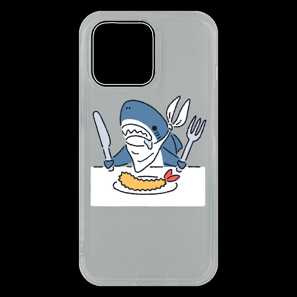 エビフライを食べようとするサメ2021 iPhone13 Pro ソフトケース (TPU)