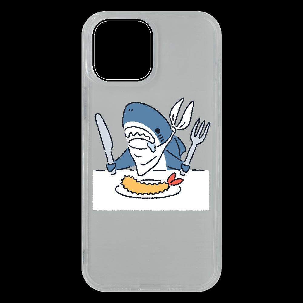エビフライを食べようとするサメ2021 iPhone13 Pro Max ソフトケース (TPU)