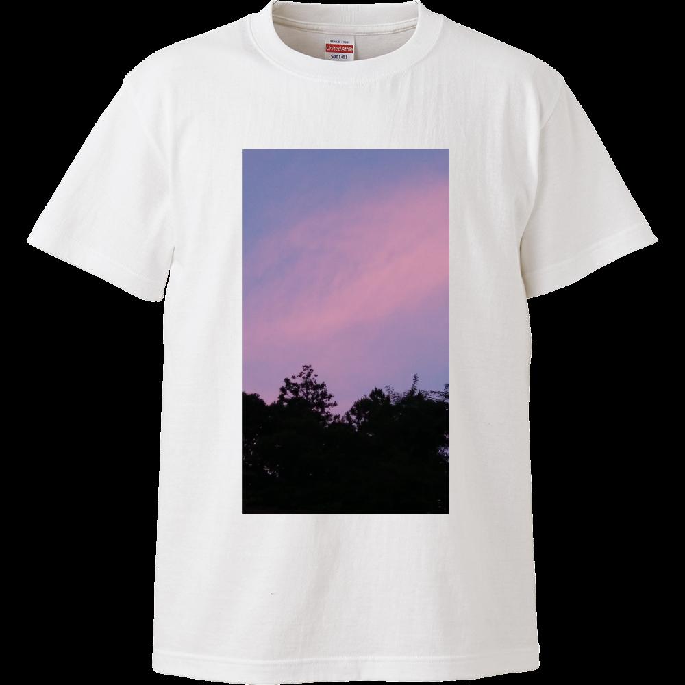 夏の夕方 ニシノソラ ハイクオリティーTシャツ