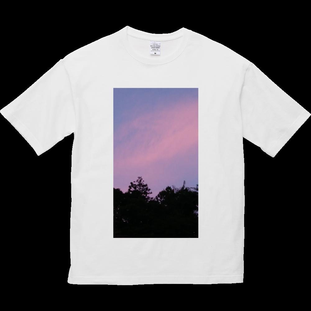 夏の夕方 ニシノソラ 5.6オンス ビッグシルエット Tシャツ