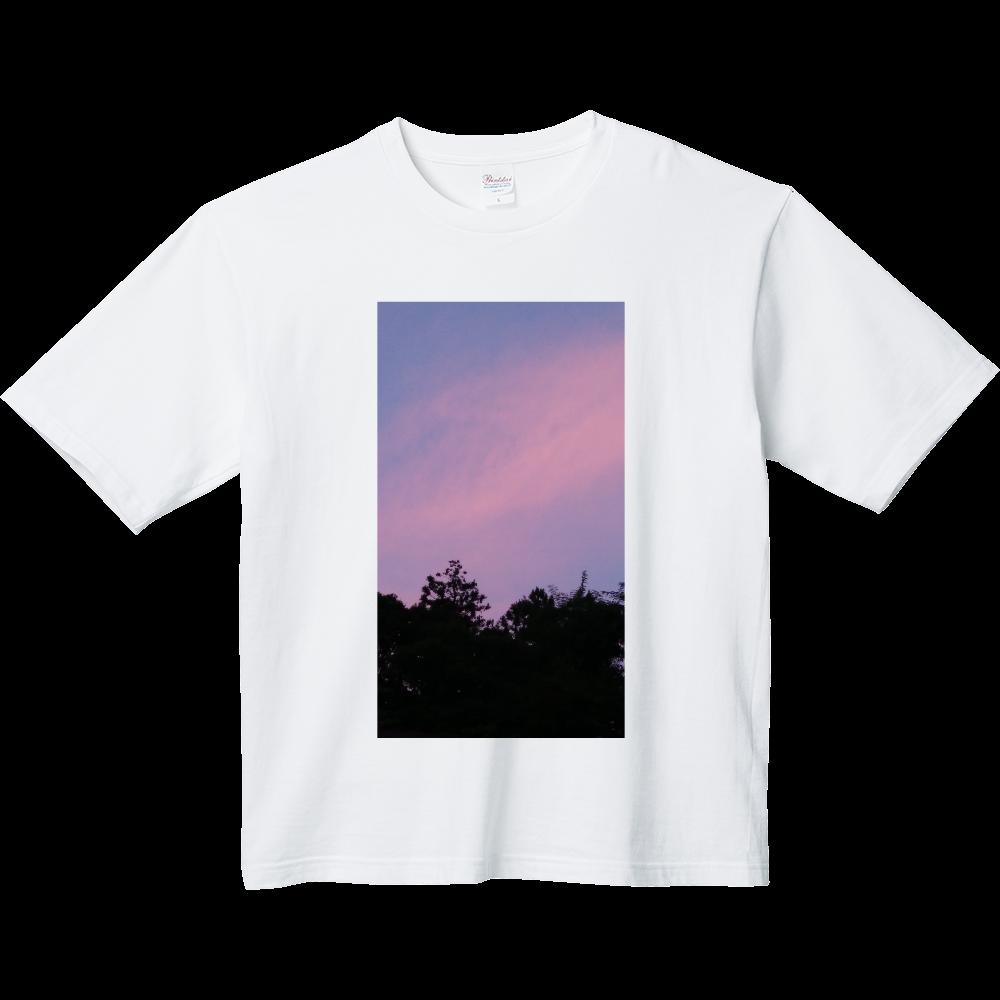 夏の夕方 ニシノソラ ヘビーウェイト ビッグシルエットTシャツ