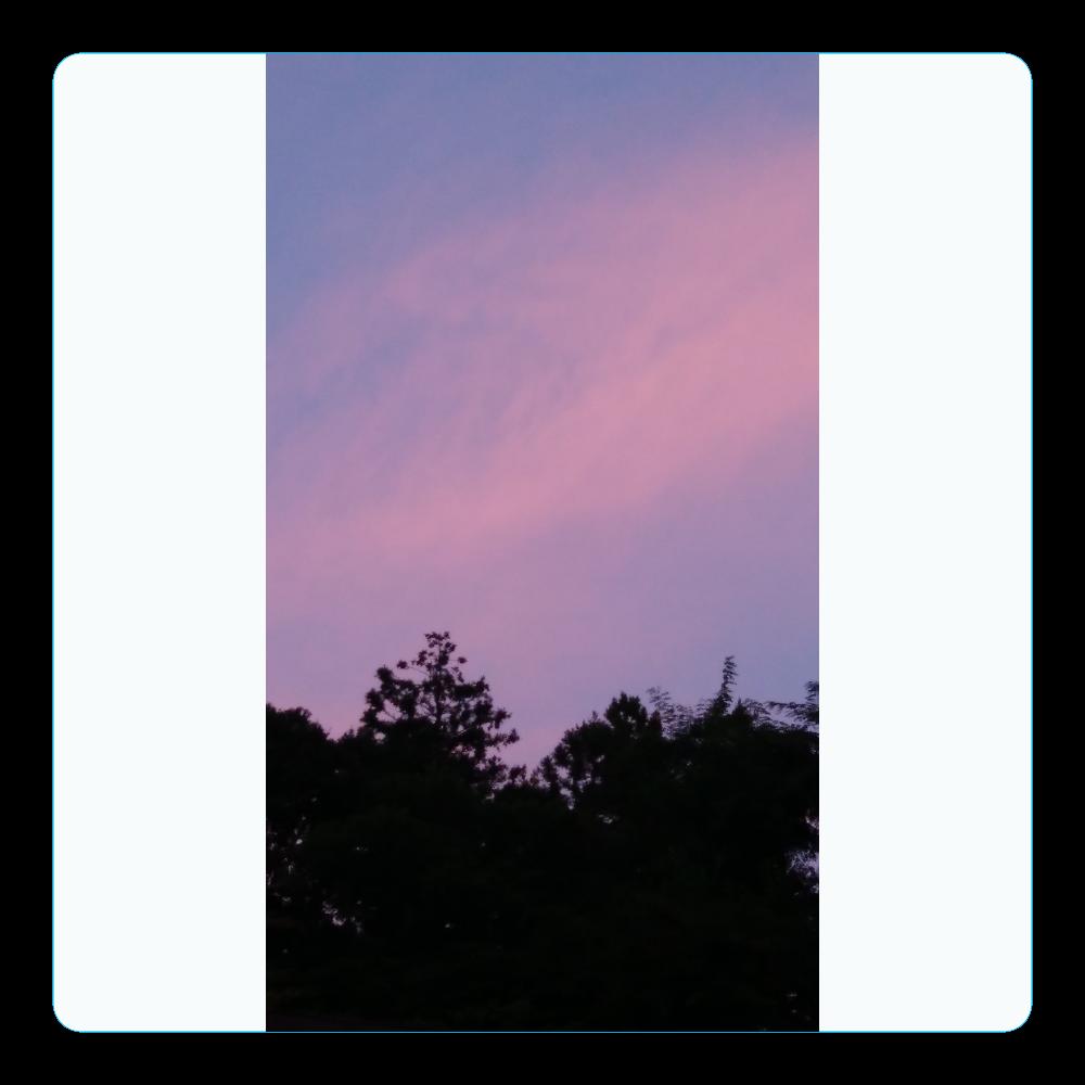 夏の夕方 ニシノソラ アクリルコースター(四角)