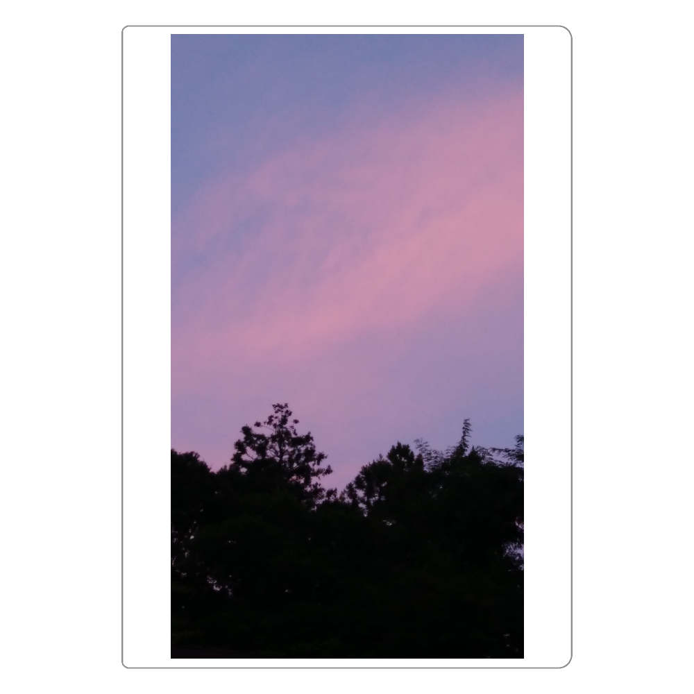 夏の夕方 ニシノソラ ソフトレザーノート