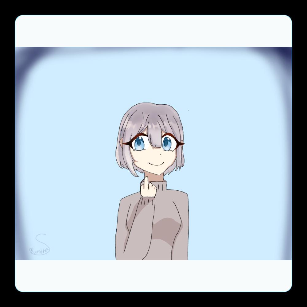 ボブの女の子 アクリルコースター(四角)
