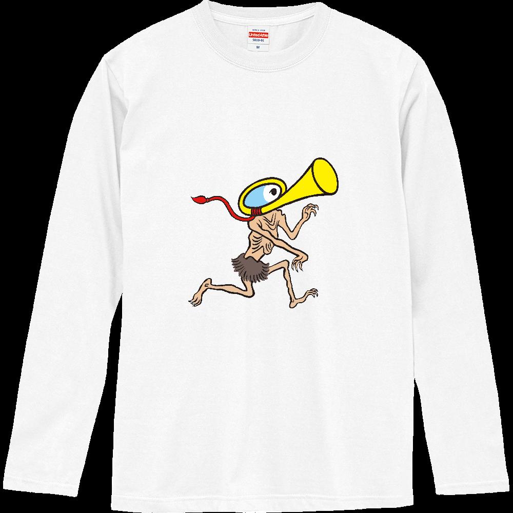 妖怪シリーズ、ラッパようかい ロングスリーブTシャツ