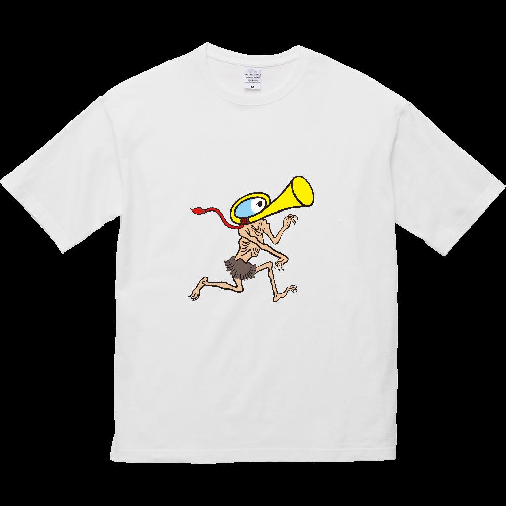 妖怪シリーズ、ラッパようかい 5.6オンス ビッグシルエット Tシャツ