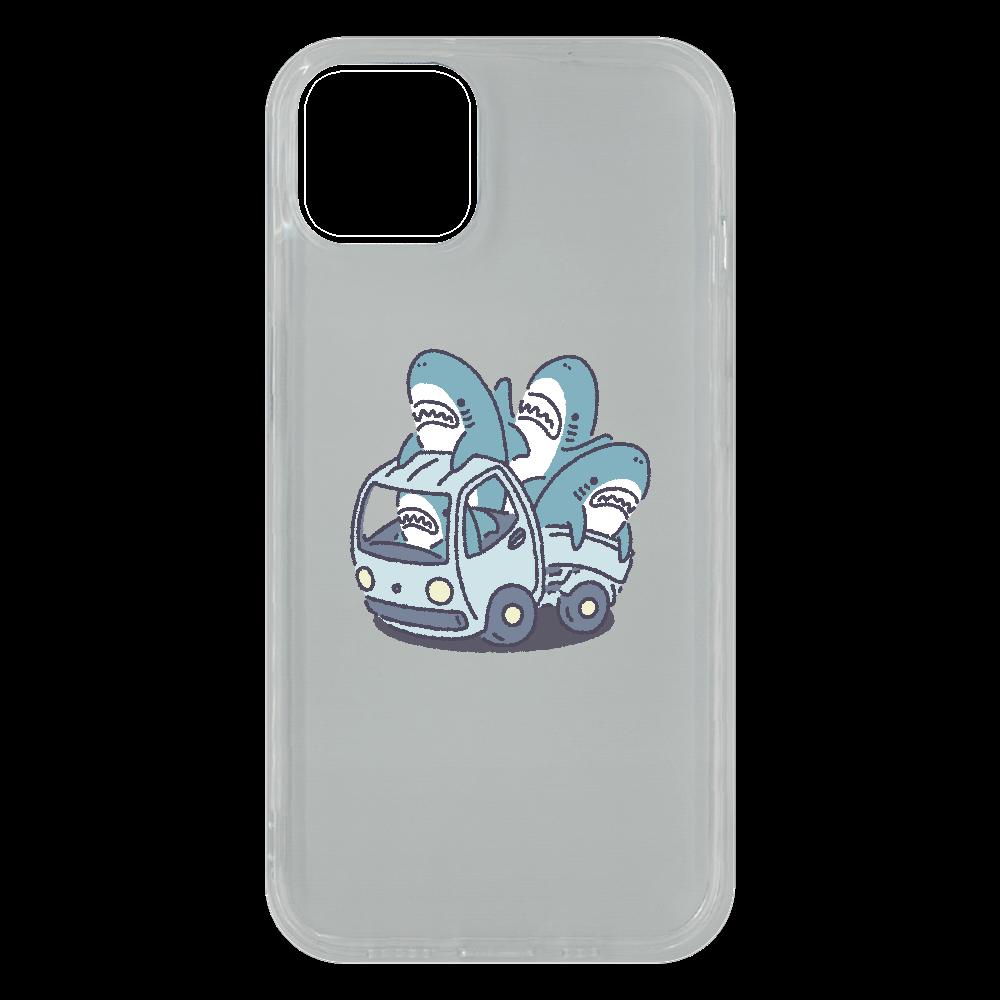 サメがたくさんトラックに iPhone13 ソフトケース (TPU)