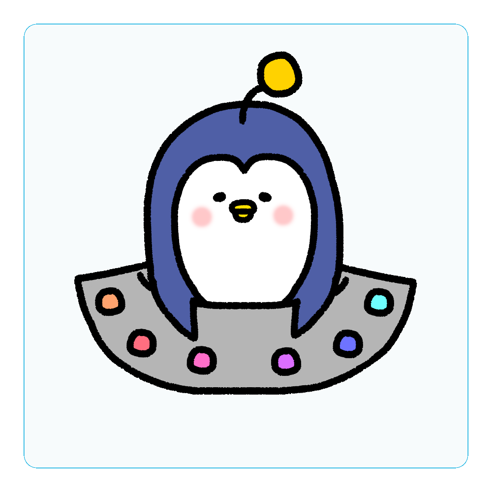 UFOぺんぎん アクリルコースター(四角)
