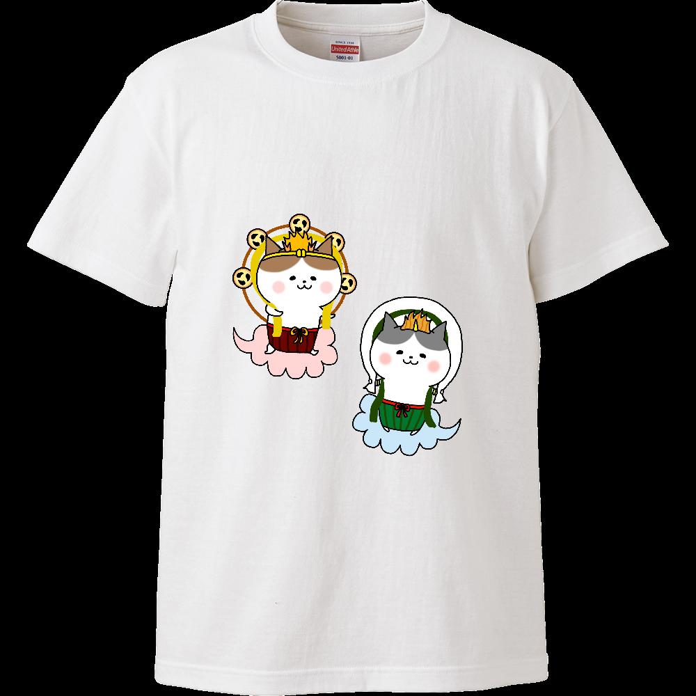 風猫雷猫 ハイクオリティーTシャツ