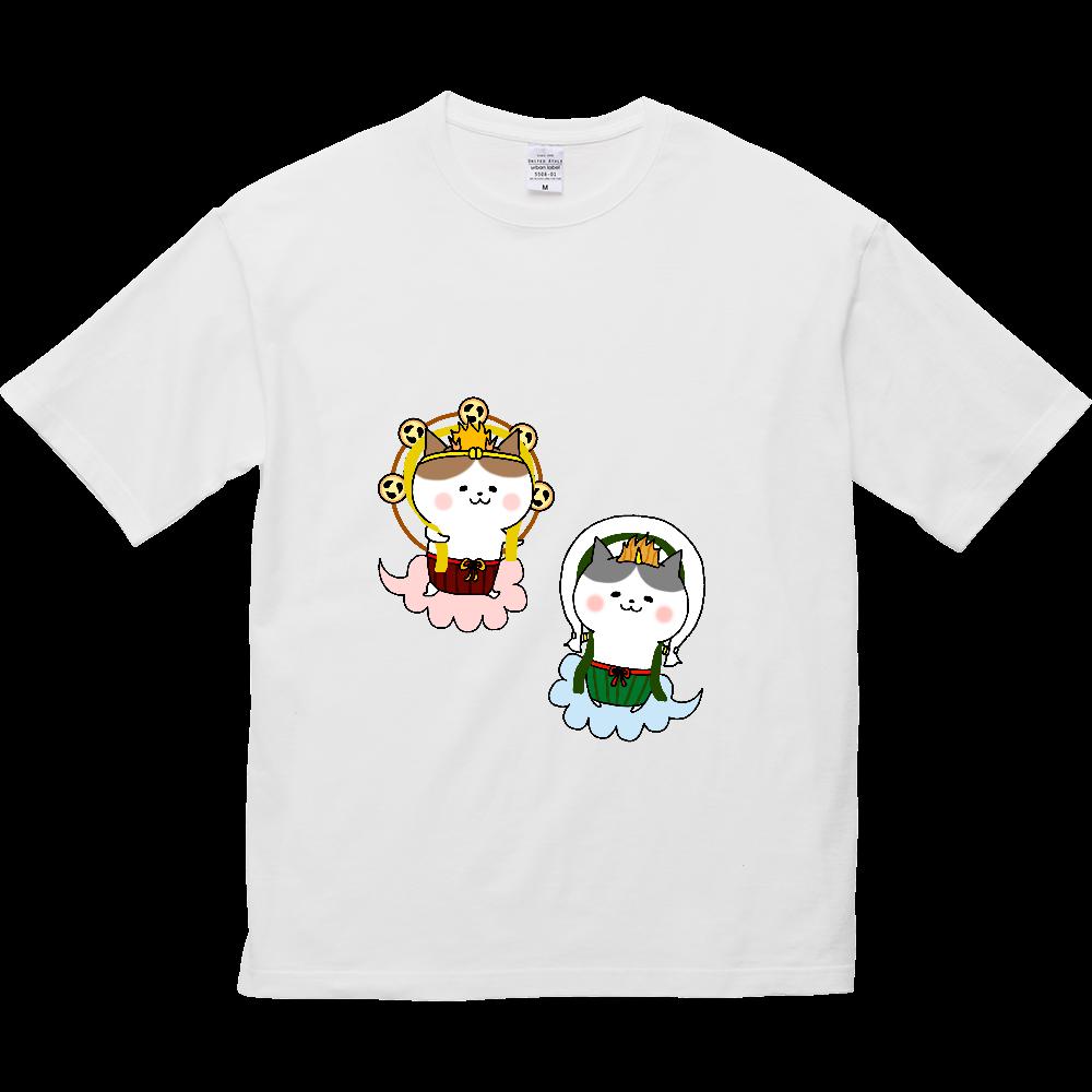 風猫雷猫 5.6オンス ビッグシルエット Tシャツ
