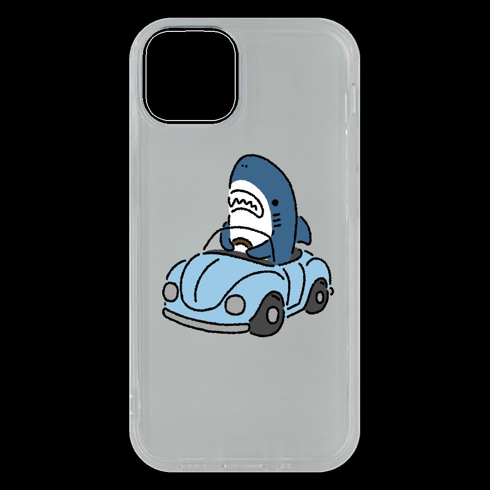 運転を覚えたサメ2021 iPhone13 mini ソフトケース (TPU)