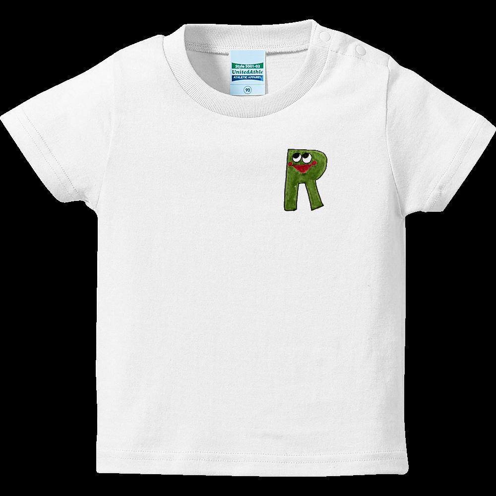 アルファベットTシャツ R ハイクオリティーベビーTシャツ