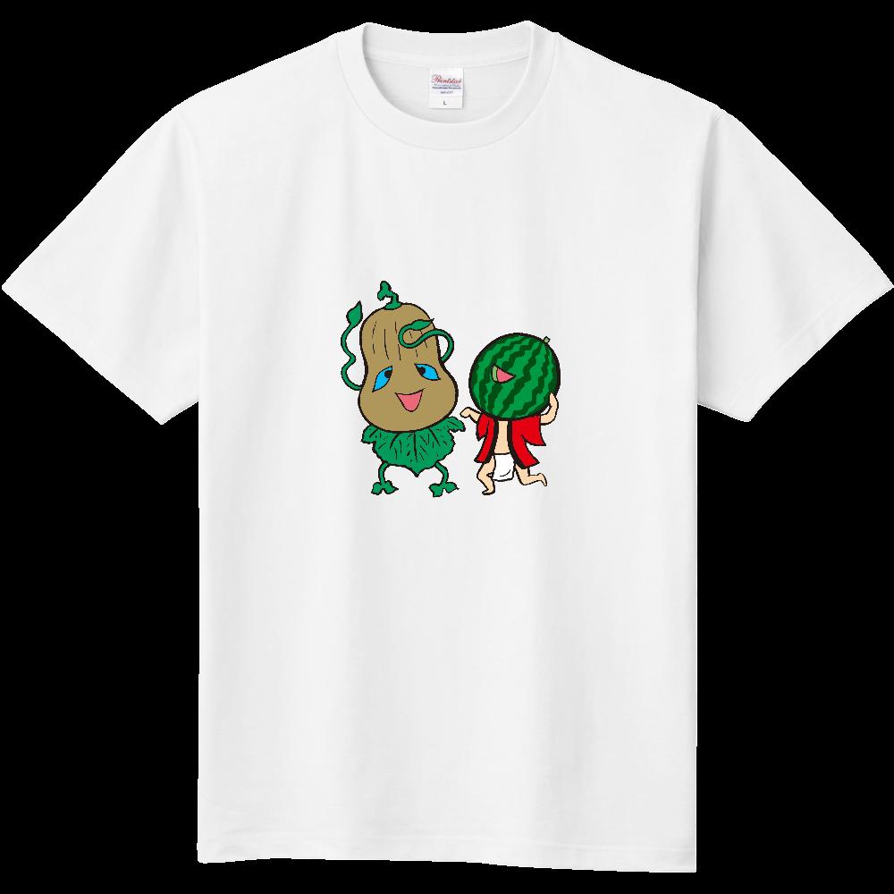 妖怪シリーズ、かぼちゃ妖怪とスイカ妖怪 定番Tシャツ