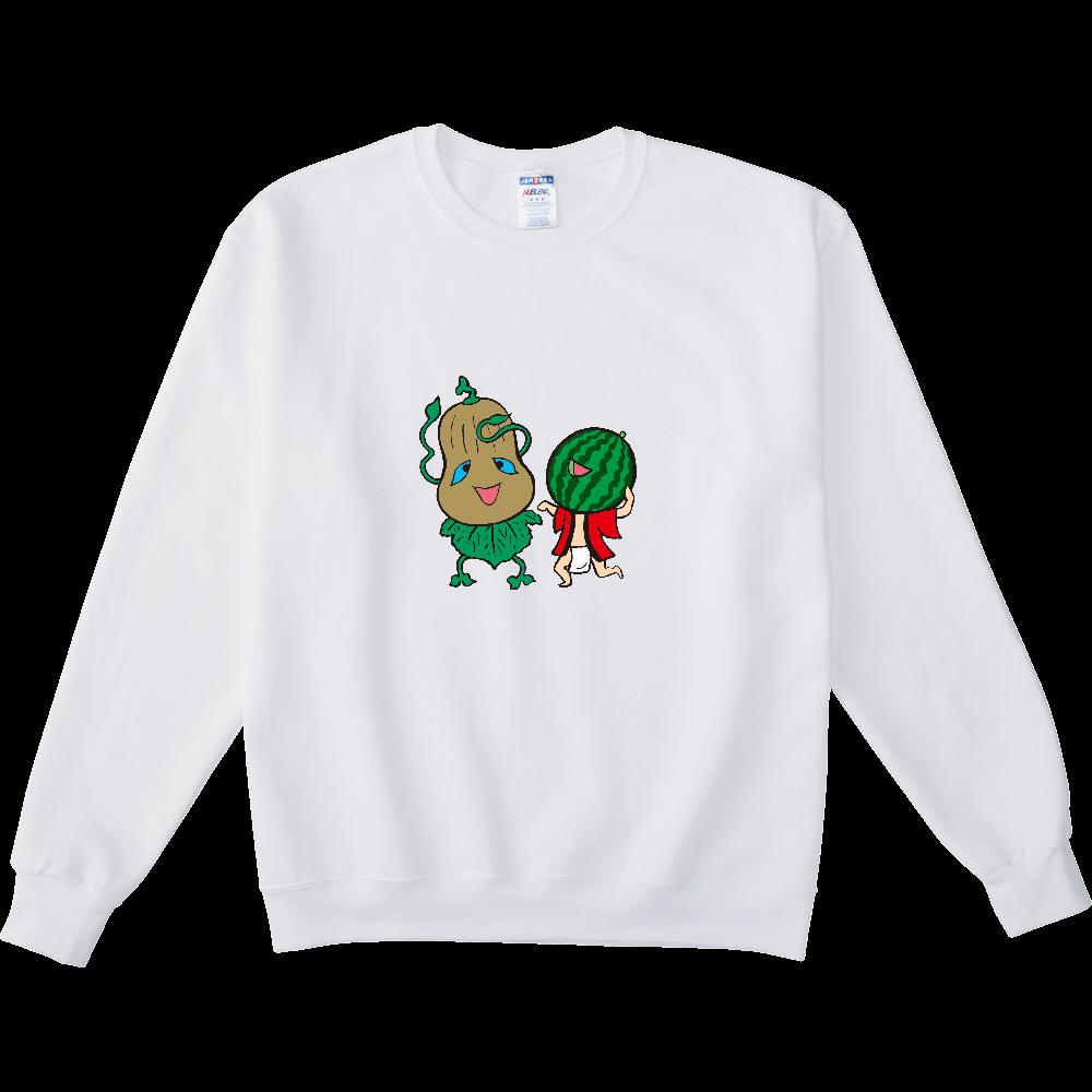 妖怪シリーズ、かぼちゃ妖怪とスイカ妖怪 NUBLENDスウェットシャツ