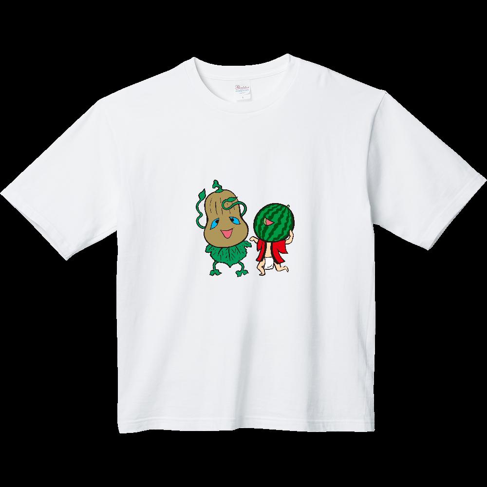 妖怪シリーズ、かぼちゃ妖怪とスイカ妖怪 ヘビーウェイト ビッグシルエットTシャツ