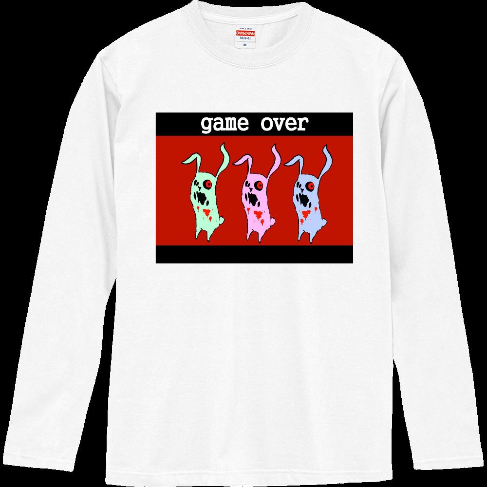 game over うさぎぃず ロングスリーブTシャツ