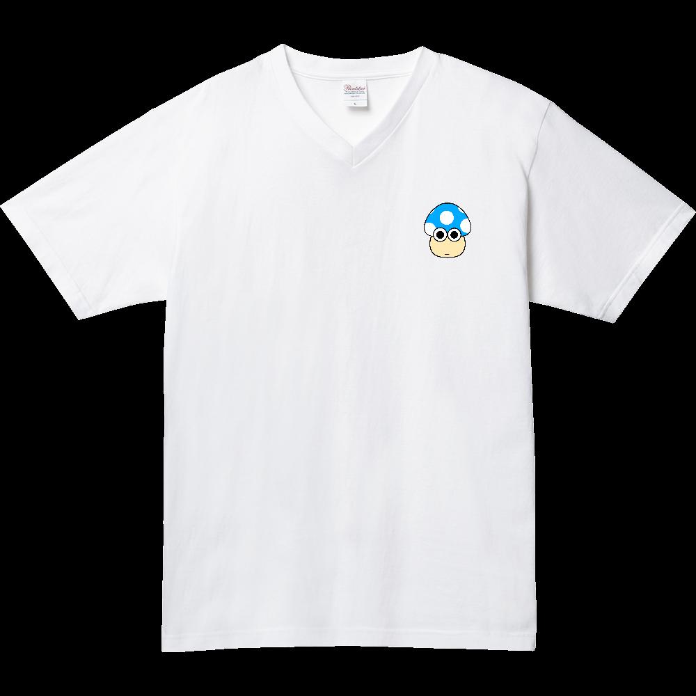 きのこ(ぽかーん) 5.6オンス ヘビーウェイトVネックTシャツ