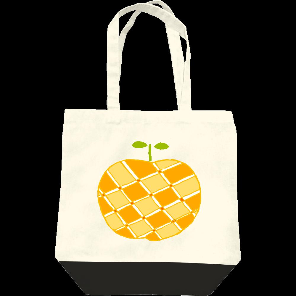 この秋おすすめ!昭和レトロポップデザイン「リンゴ」 レギュラーキャンバストートバッグ(M)