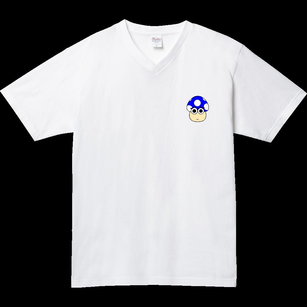 きのこ(おどど) 5.6オンス ヘビーウェイトVネックTシャツ