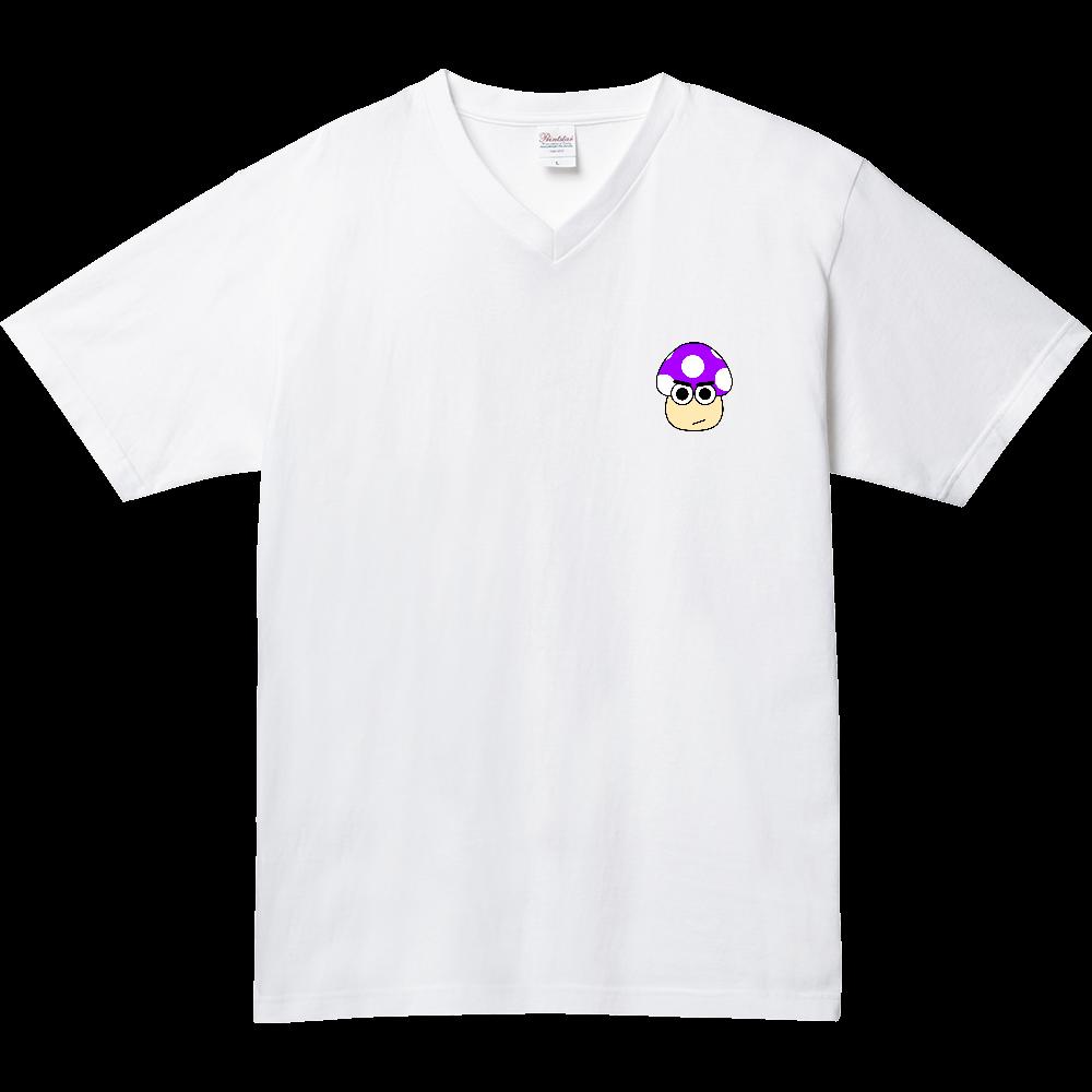 きのこ(なるしす) 5.6オンス ヘビーウェイトVネックTシャツ