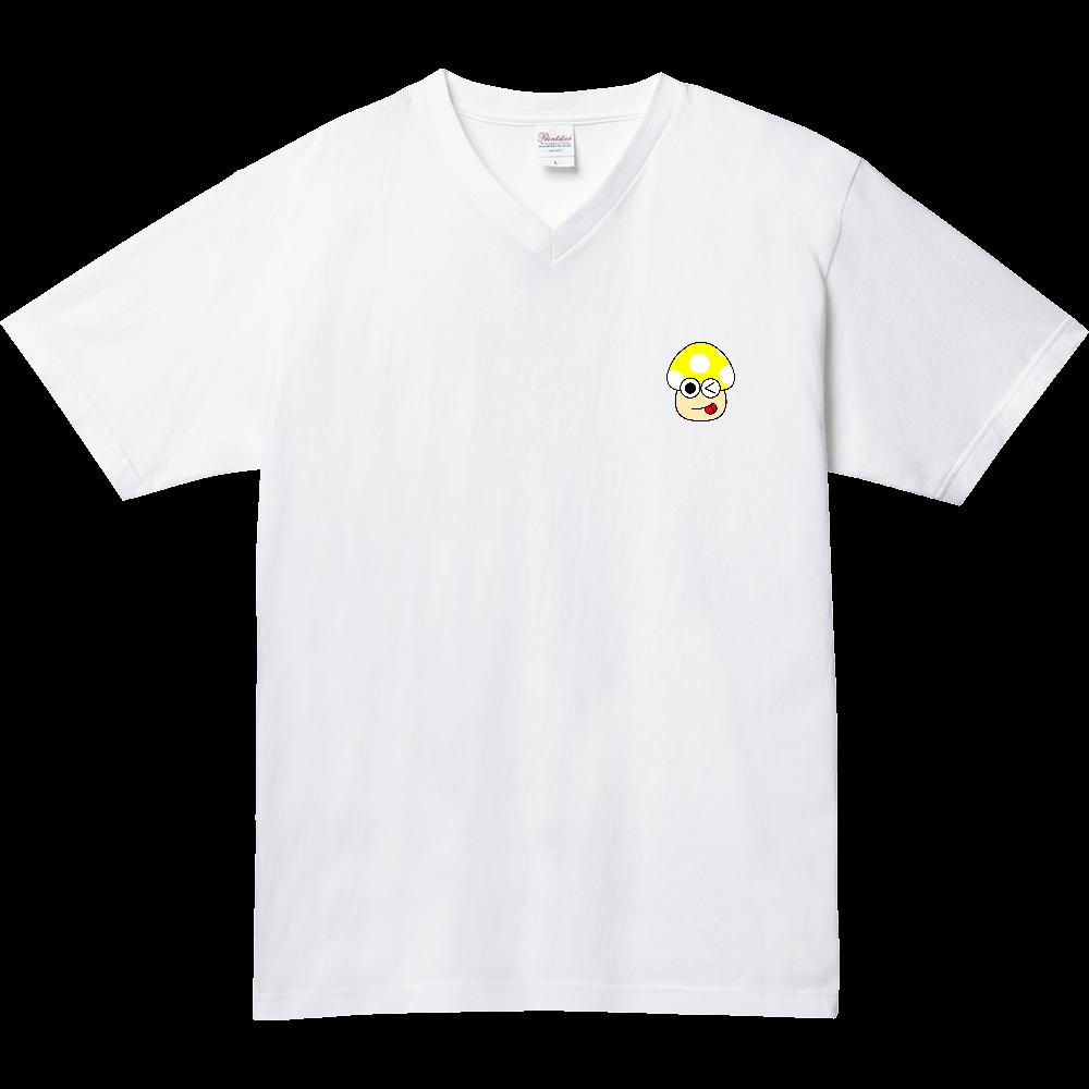 きのこ(やんち) 5.6オンス ヘビーウェイトVネックTシャツ