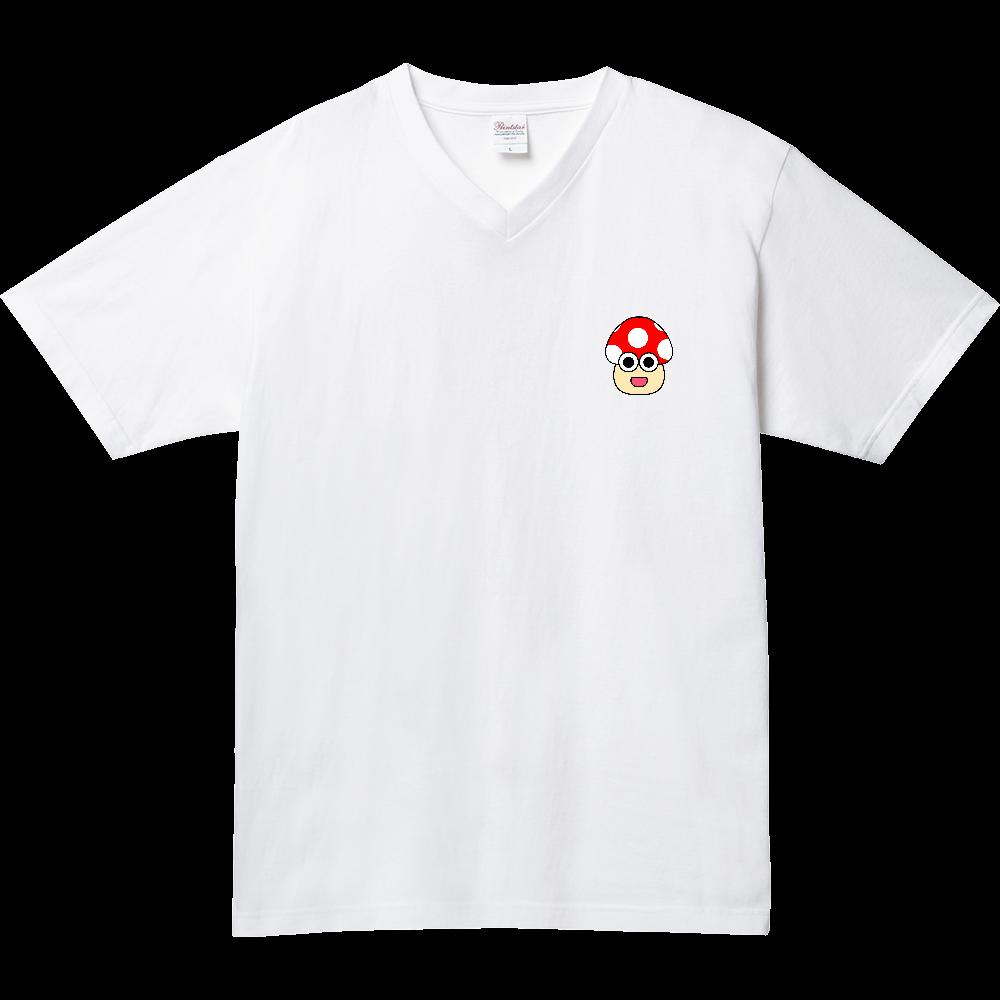 きのこ(のんき) 5.6オンス ヘビーウェイトVネックTシャツ