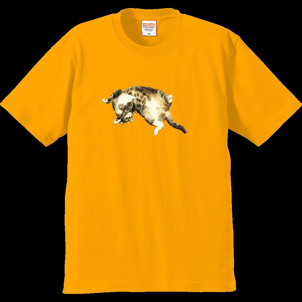 へそ天ねこ プレミアムTシャツ
