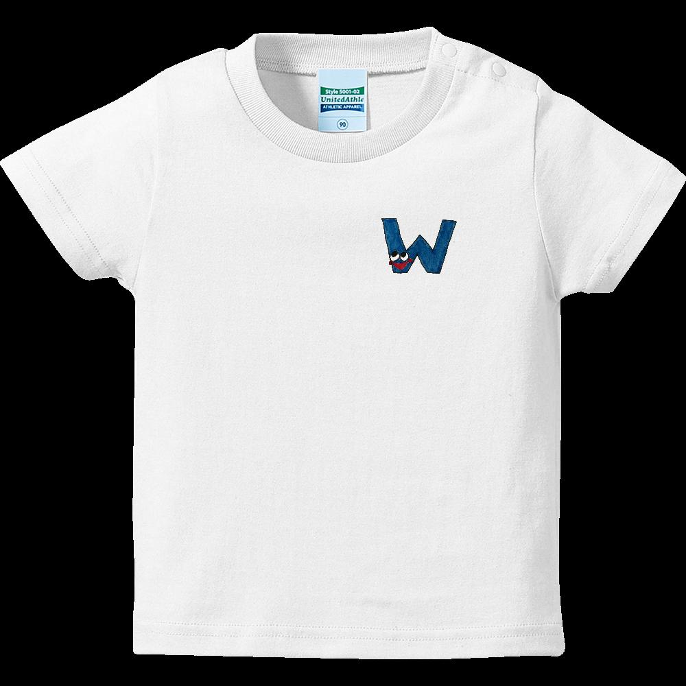 アルファベットTシャツ W ハイクオリティーベビーTシャツ