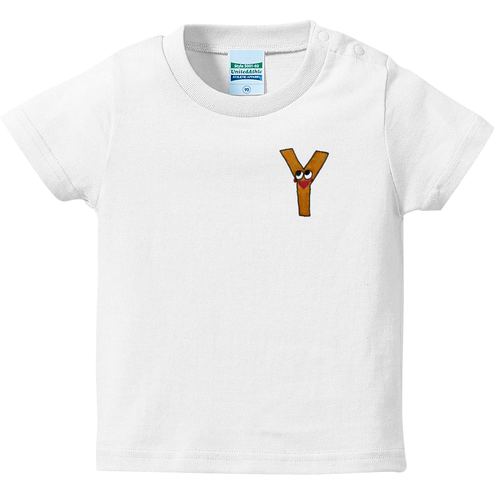 アルファベットTシャツ Y ハイクオリティーベビーTシャツ