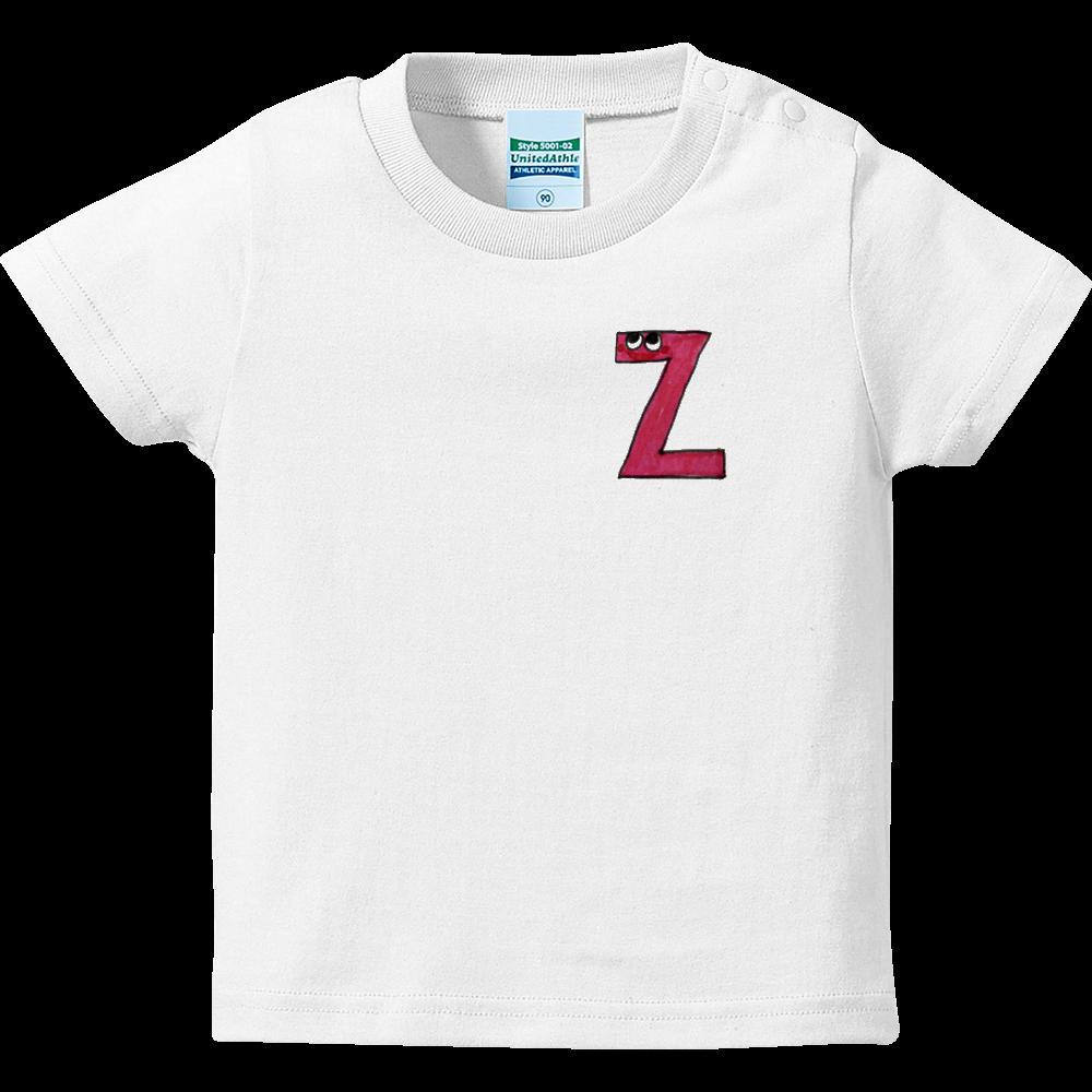 アルファベットTシャツ Z ハイクオリティーベビーTシャツ