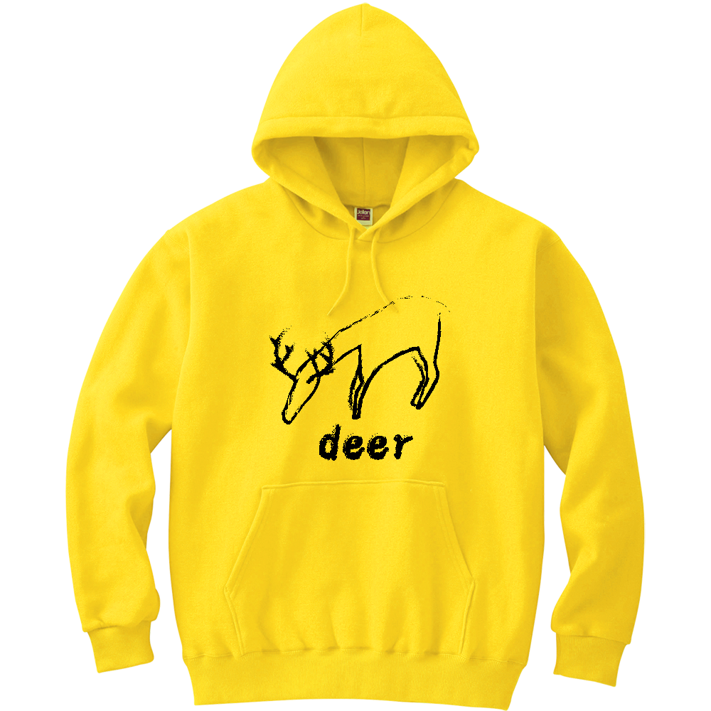 deer(鹿) 軽量プルパーカー (長袖プリント)