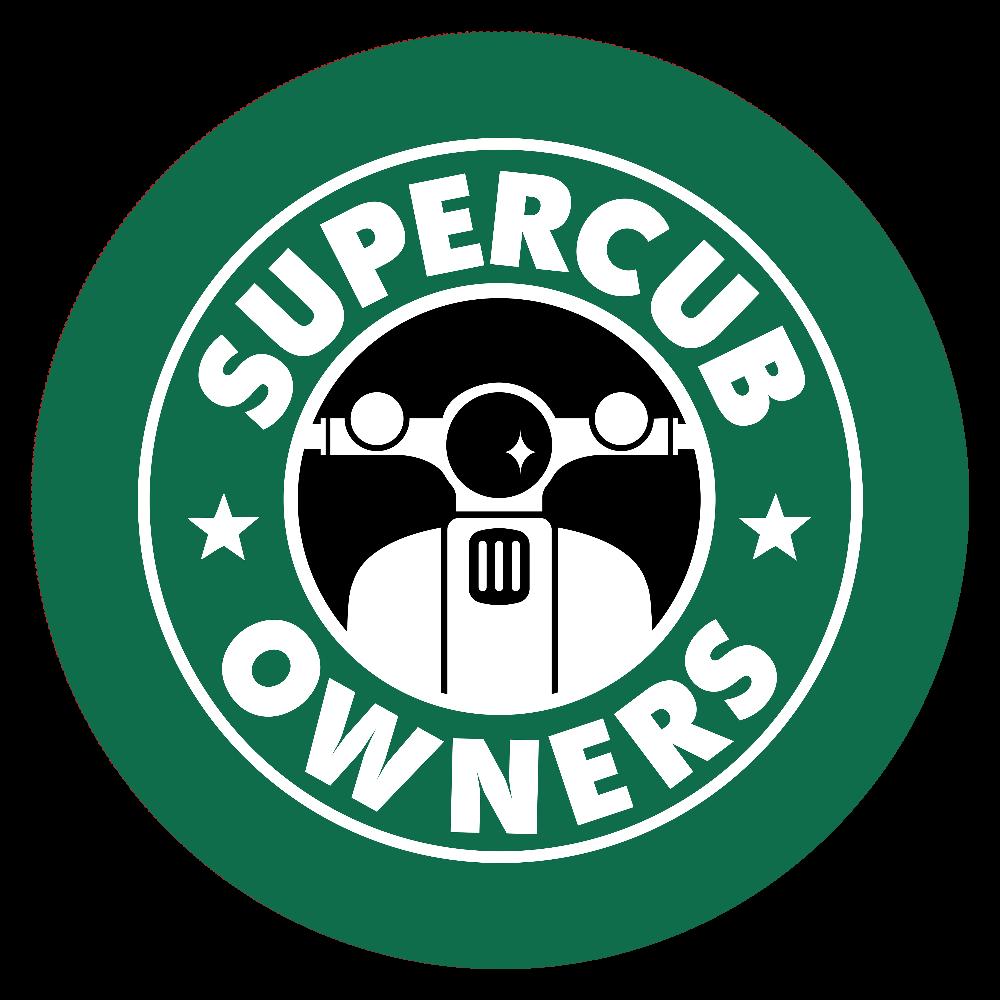 【パロディ】SUPER CUB OWNERS(スーパーカブオーナーズ)  44㎜缶バッジ
