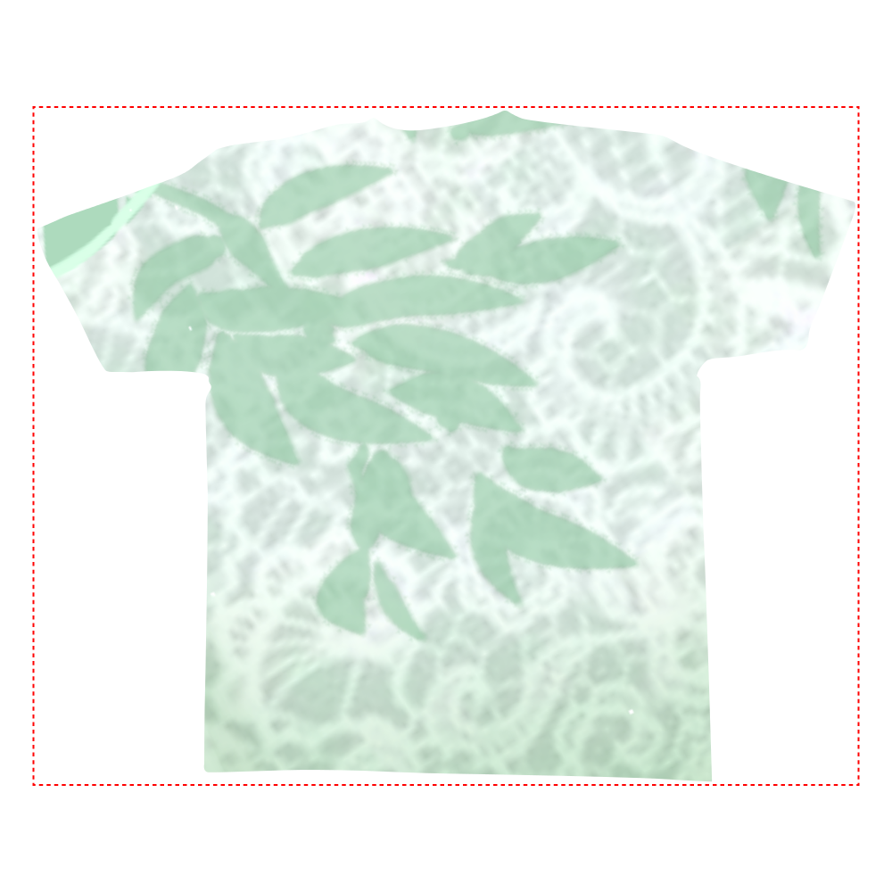 ボタニカル 全面インクジェットTシャツ(L)