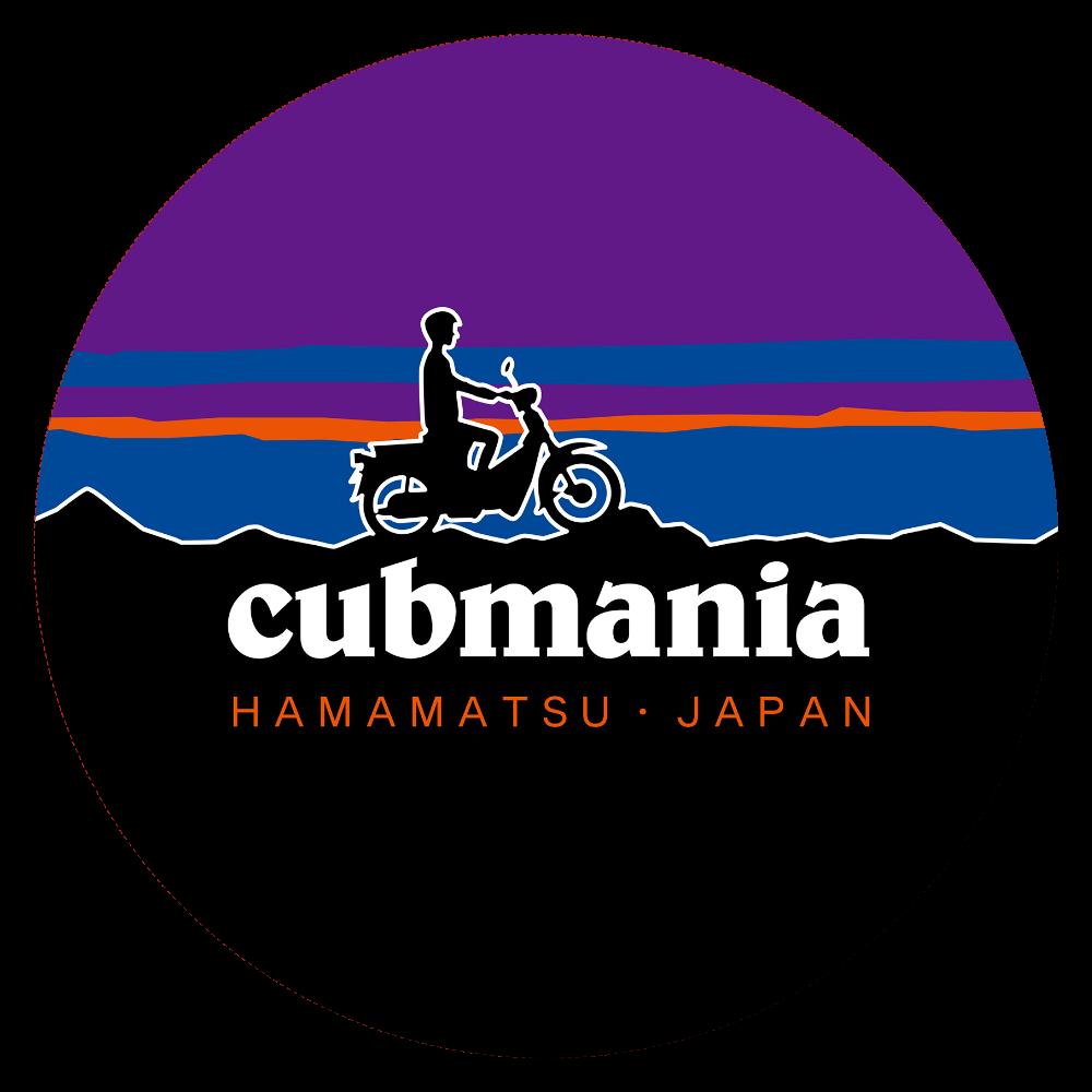 【パロディ】cubmania カブマニア スーパーカブ  44㎜缶バッジ