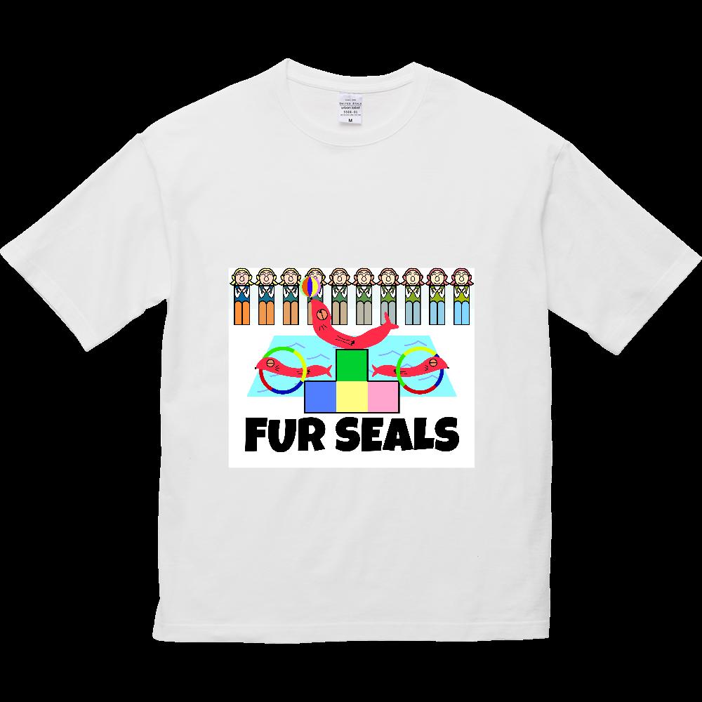 ねむいオットセイ 5.6オンス ビッグシルエット Tシャツ