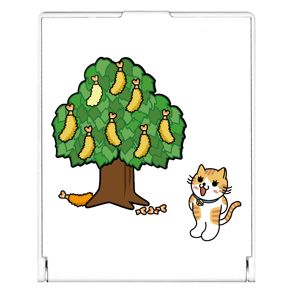 エビフライの木 スクエアミラー