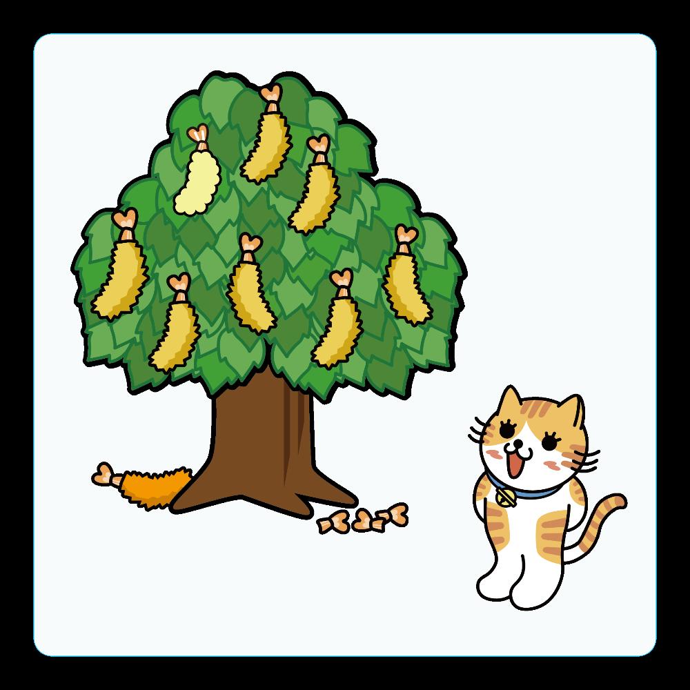 エビフライの木 アクリルコースター(四角)