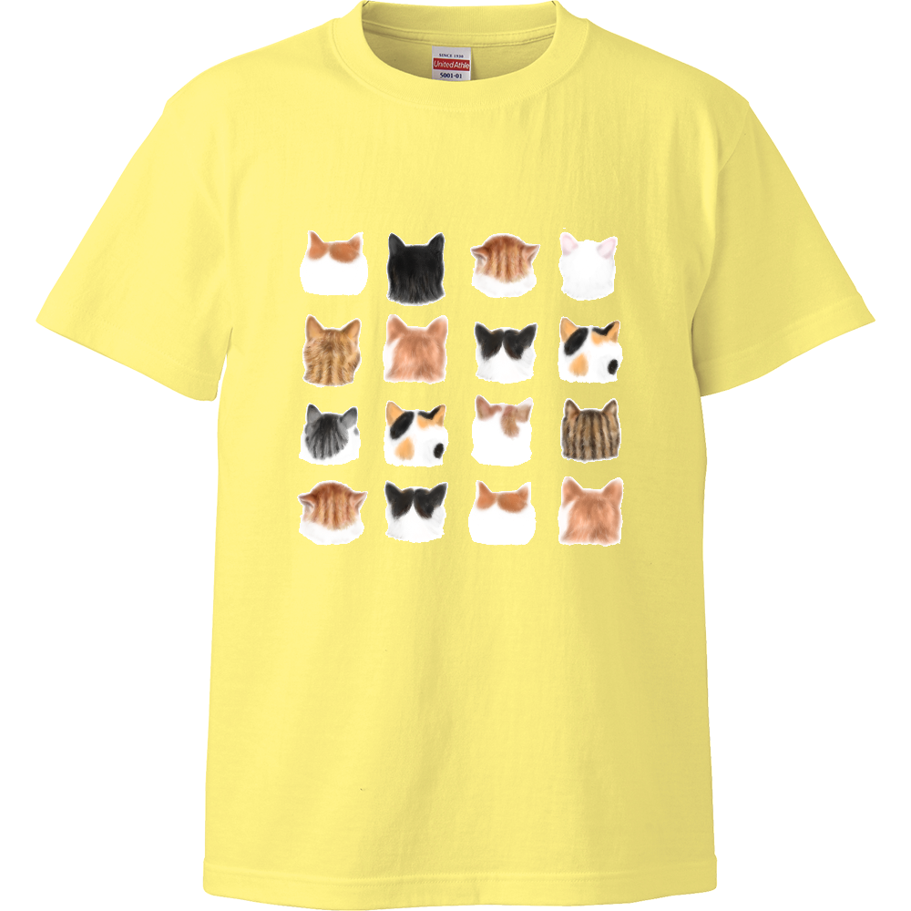 ねこあたまコレクション~思わずなでたい後頭部 ハイクオリティーTシャツ