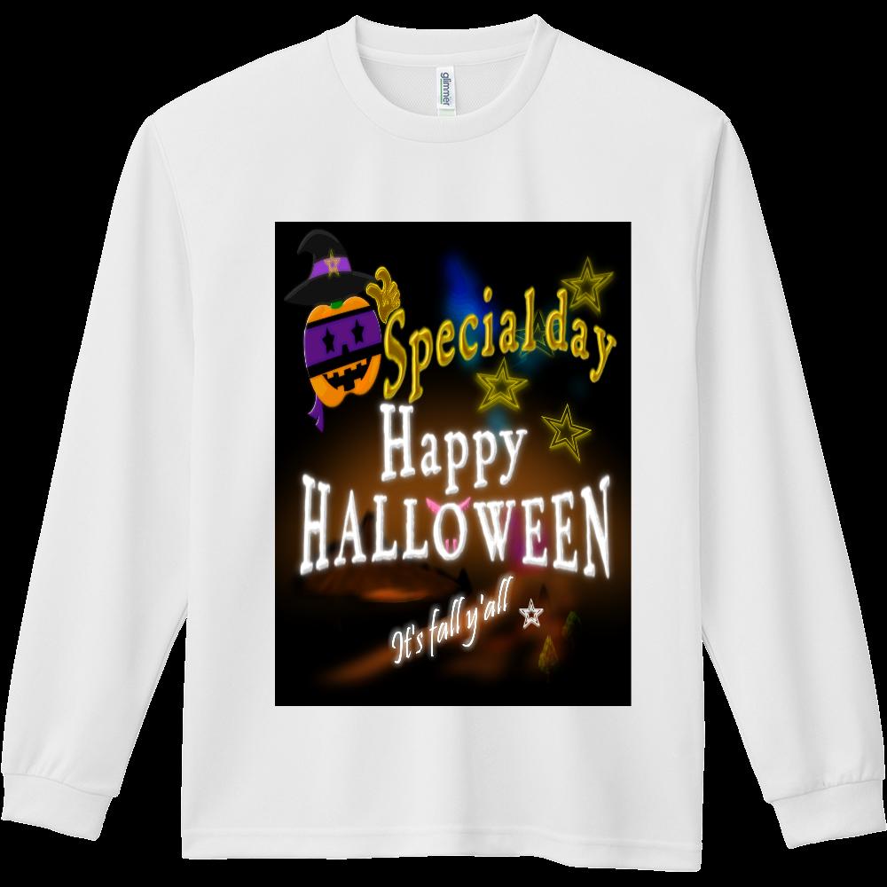 It's fall y'all Happy Halloween. ドライ長袖Tシャツ