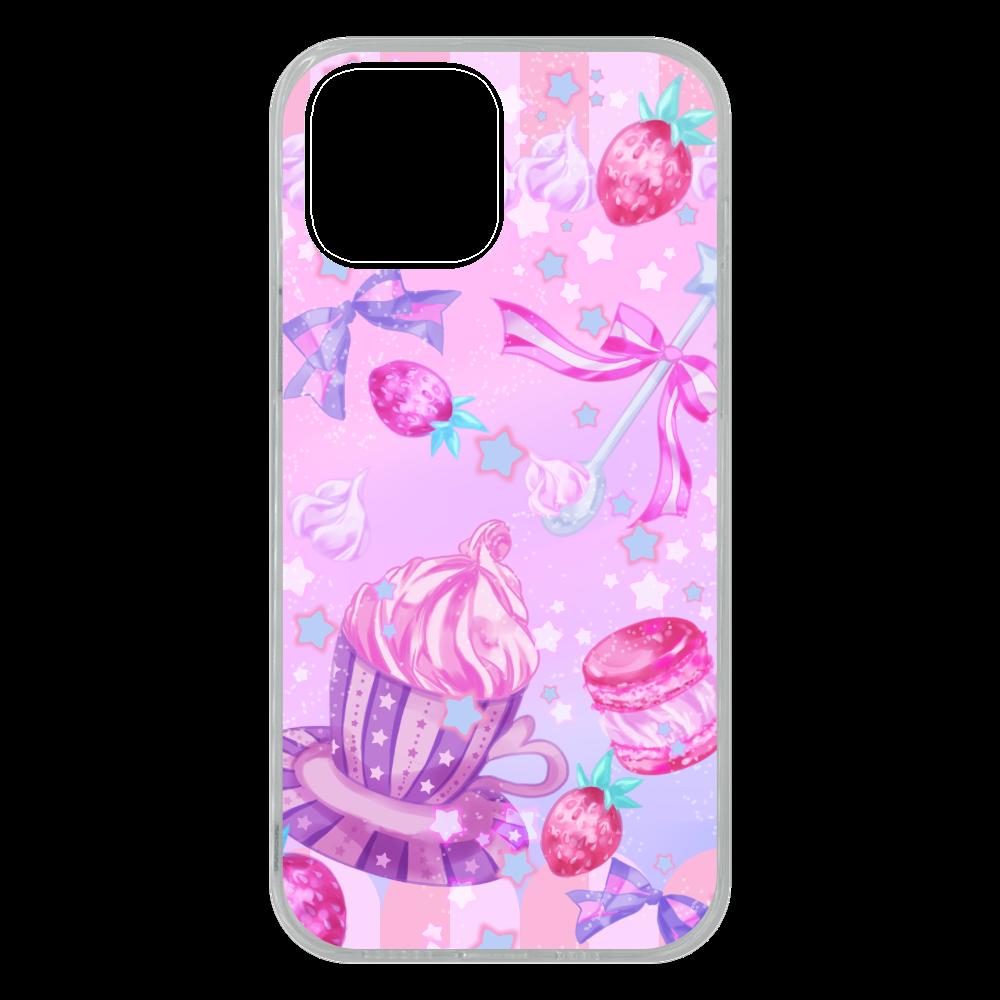 苺とマカロンのティータイム スマホケースiPhone 13 Pro Max ソフトケース iPhone13 Pro Max ソフトケース (TPU)