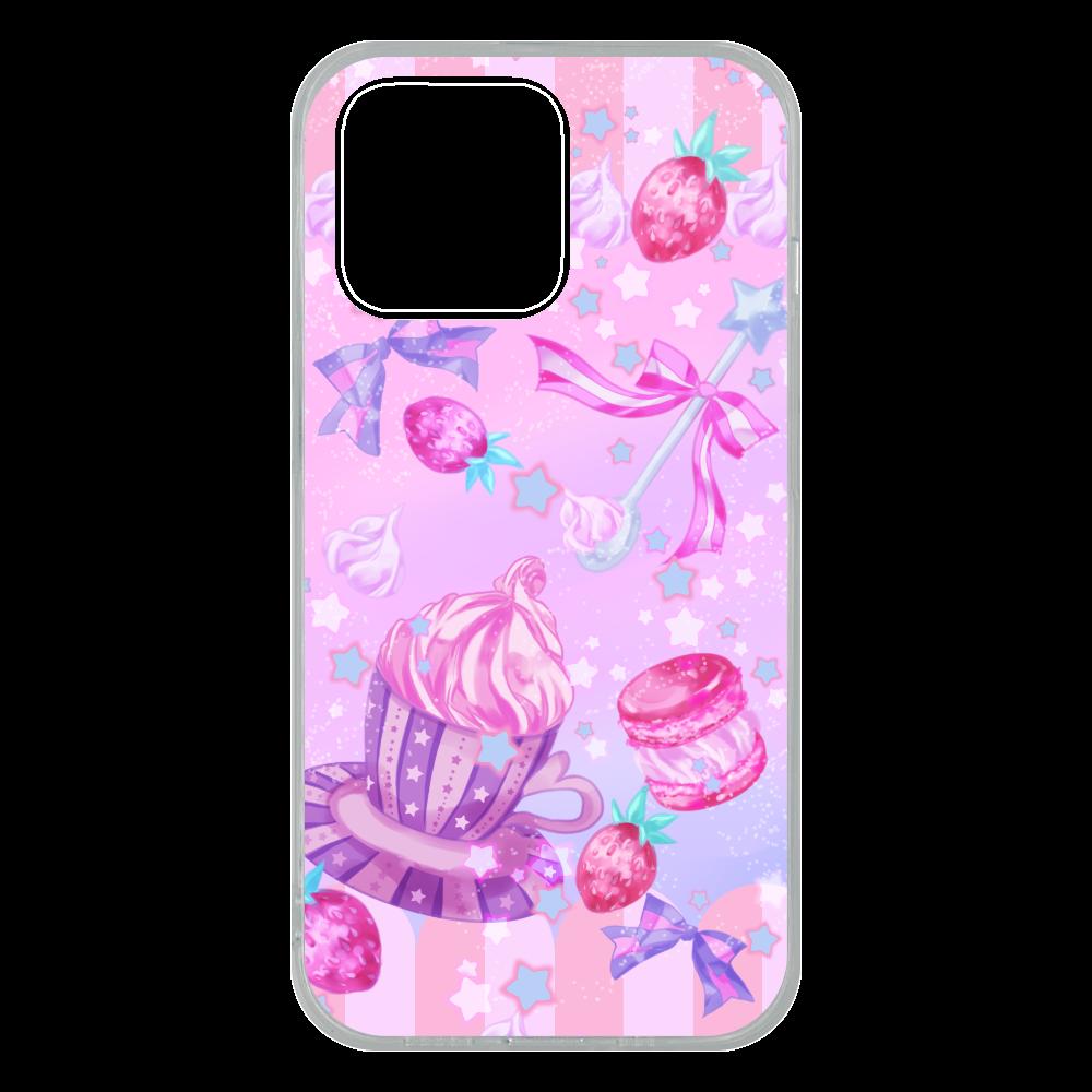 苺とマカロンのティータイム スマホケースPhone 13 Pro ソフトケース iPhone13 Pro ソフトケース (TPU)