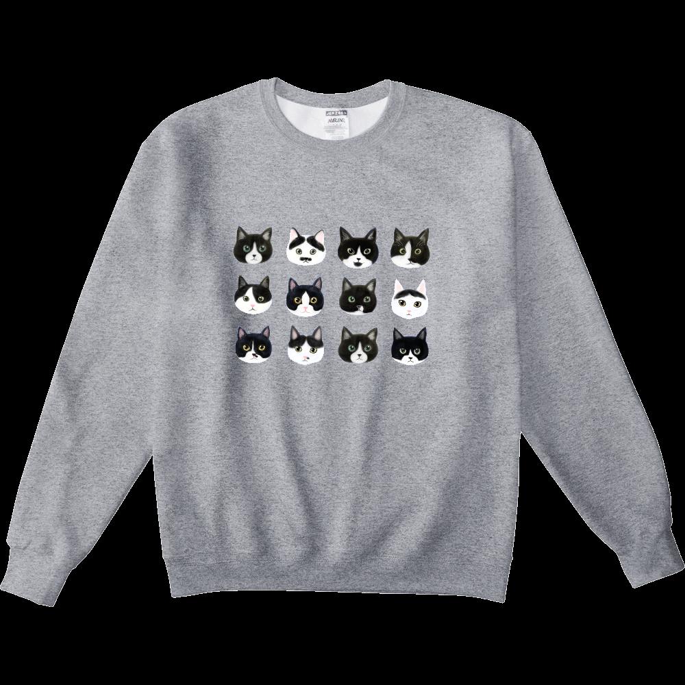 ねこあたまコレクション~白黒ちゃんハチワレちゃん~ NUBLENDスウェットシャツ