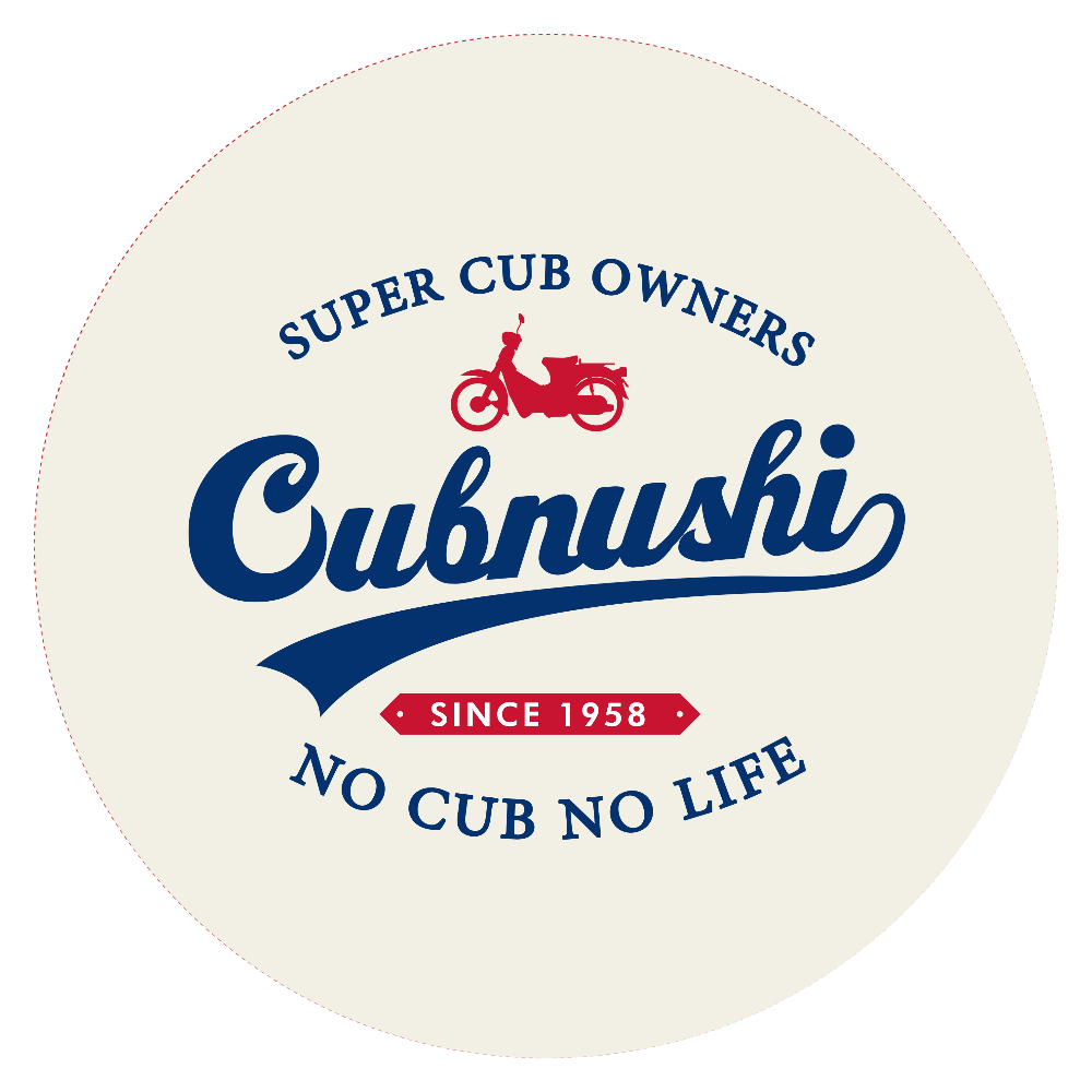 Cubnushi スーパーカブ カブ主  44㎜缶バッジ