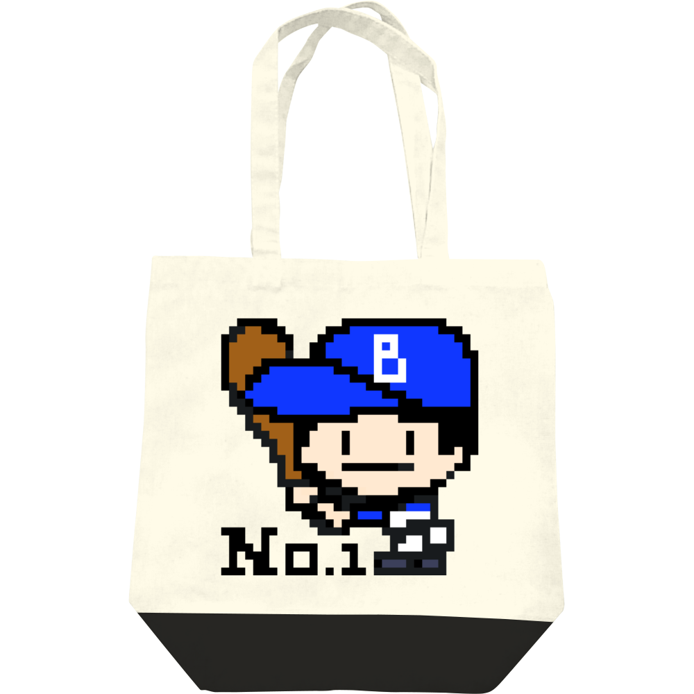レギュラーキャンバストートバッグ(M) / 野球少年B -ピクセルアート- レギュラーキャンバストートバッグ(M)