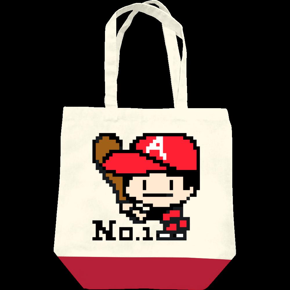 キャンバストートバッグ(M) / 野球少年A -ピクセルアート- レギュラーキャンバストートバッグ(M)