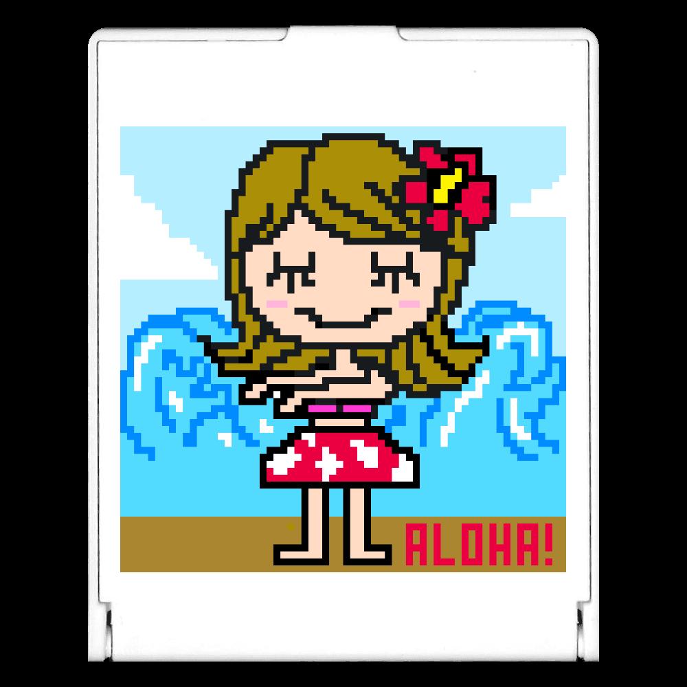 フラダンスの女の子 スクエアミラー