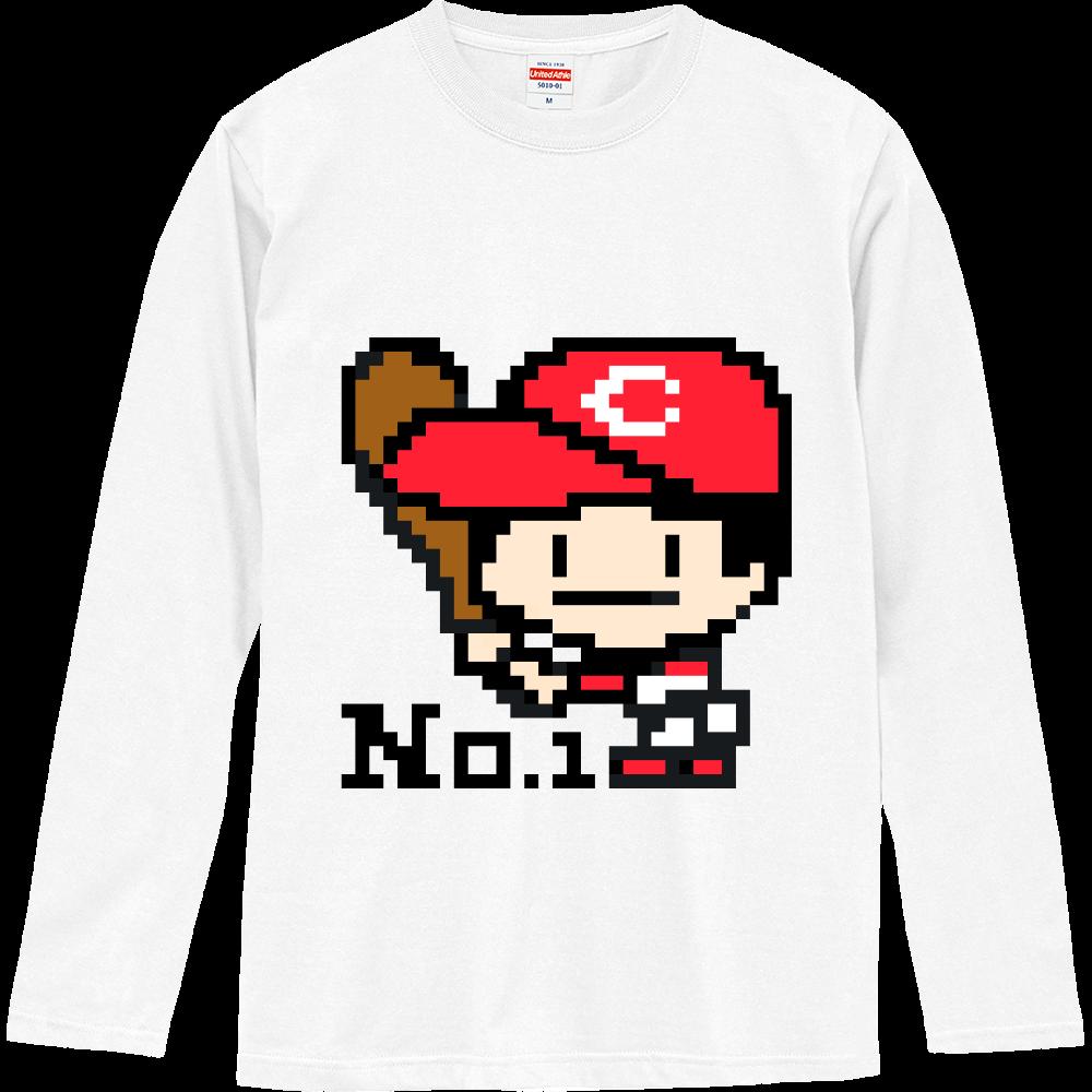 野球少年C -ピクセルアート- ロングスリーブTシャツ