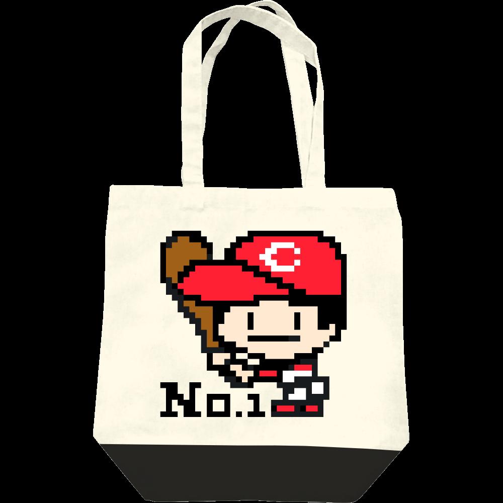 野球少年C -ピクセルアート- レギュラーキャンバストートバッグ(M)